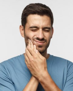 man toothache